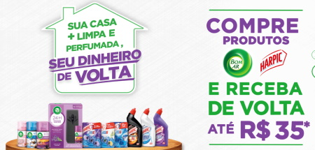 SUA CASA + LIMPA E PERFUMADA, SEU DINHEIRO DE VOLTA